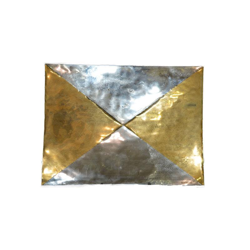 Centrotavola in vetro oro argento nogara - Centrotavola argento moderno ...